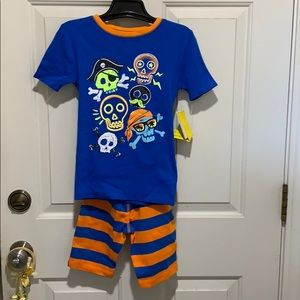 3️⃣for2️⃣0️⃣Boys' Sleepwear Set with Skull Prints